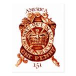 1765 American Tax Stamp Postcard