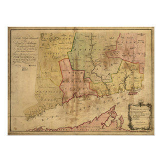 1766 Map of the Colony of Connecticut Posters