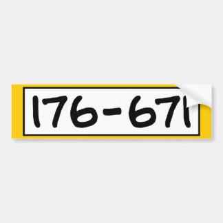 176-671 BUMPER STICKER