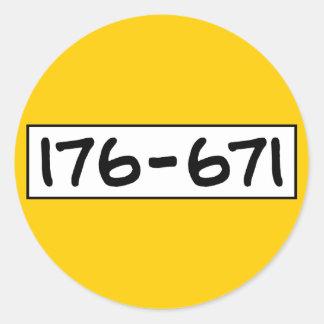 176-671 PEGATINA REDONDA