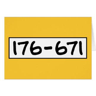 176-671 TARJETA DE FELICITACIÓN