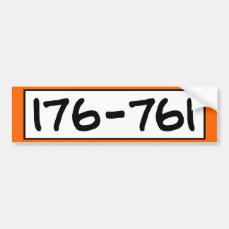 176-761 BUMPER STICKER