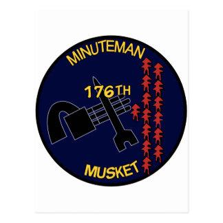176o Mosquete del Minuteman de AHC Tarjetas Postales
