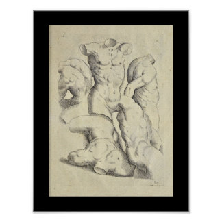 1770 Artistic Anatomy Male Torso Art Print