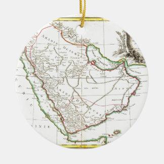 1771 Bonne Map of Arabia Geographicus Arabia b Ceramic Ornament