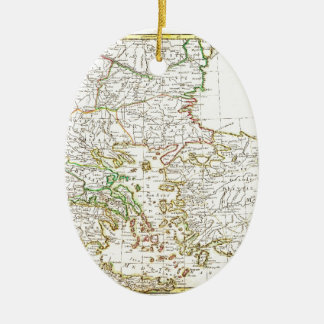 1771 Janvier Map of Greece Turkey Macedonia anda Ceramic Ornament