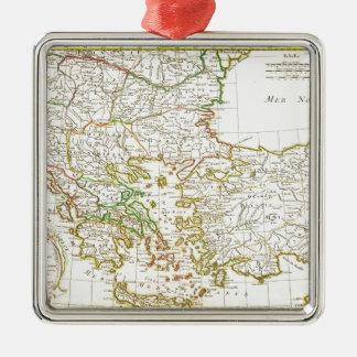 1771 Janvier Map of Greece Turkey Macedonia anda Metal Ornament