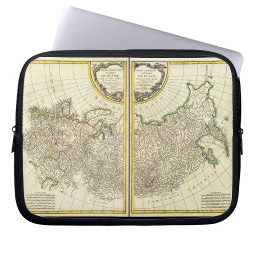 1771 Rigobert Bonne Map of Russia Laptop Sleeves