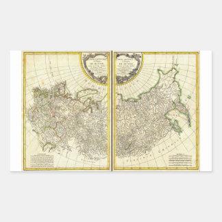 1771 Rigobert Bonne Map of Russia Rectangular Sticker