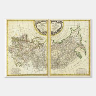 1771 Rigobert Bonne Map of Russia Yard Sign