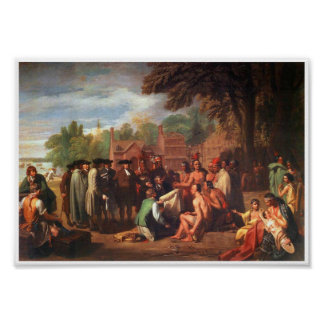 1771 Treaty of Penn with Indians Art Poster