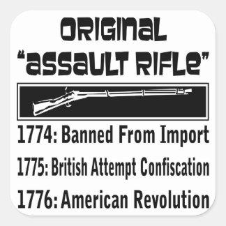 1774 el rifle de asalto original pegatina cuadrada