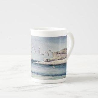 1774 Seagulls at Sandy Beach Tea Cup