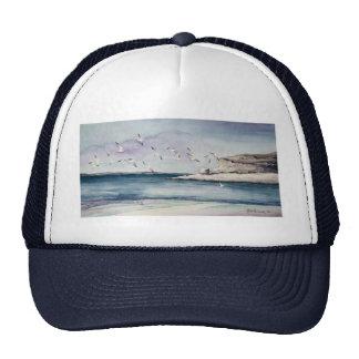 1774 Seagulls at Sandy Beach Trucker Hat