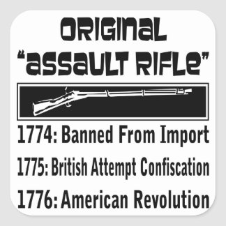1774 The Original Assault Rifle Square Sticker