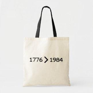 1776 > 1984 BOLSAS LIENZO
