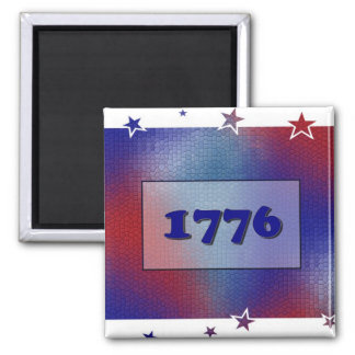 1776 2 INCH SQUARE MAGNET