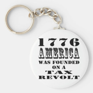 1776 America Was Founded On A Tax Revolt Keychain