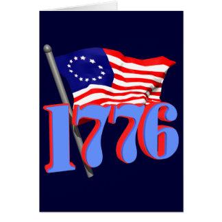 1776 American Flag Greeting Card