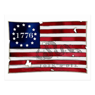 1776 American Flag Postcard