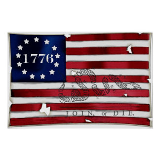 1776 American Flag Posters