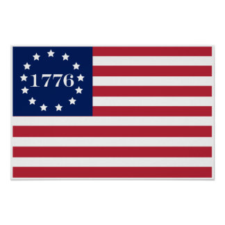 1776 American Flag Print