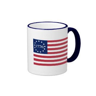 1776 American Flag Ringer Mug