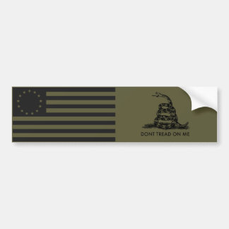 1776 Betsy Ross Flag / DONT TREAD ON ME Gadsden Bumper Sticker