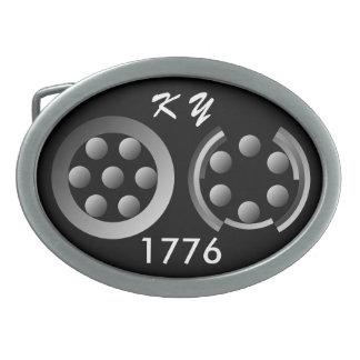 1776 centesimal hebillas de cinturón ovales