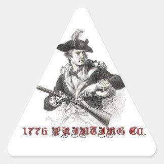 1776 Co. de impresión Pegatina Triangular