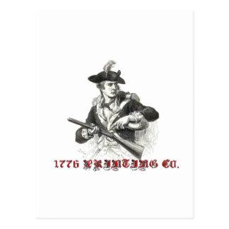 1776 Co. de impresión Postales