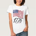 1776 Distressed American Flag Shirt