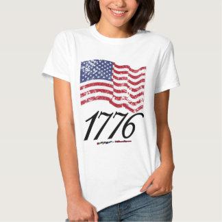 1776 Distressed American Flag Tee Shirt
