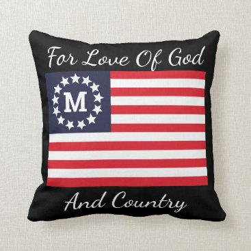 1776 Flag Cool Reversible Pledge Of Allegiance Throw Pillow