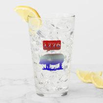 1776 Independence Piggy Glass