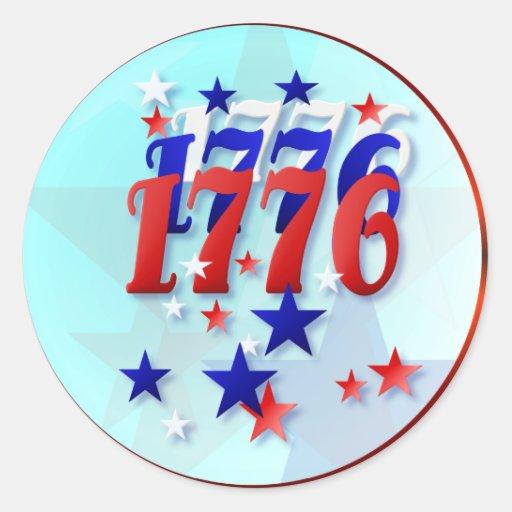 1776 IStickers Round Stickers