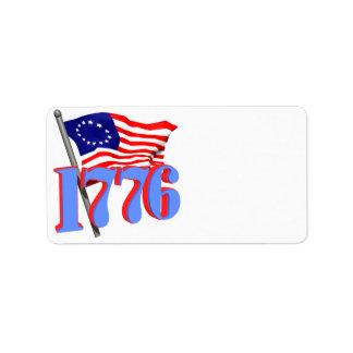 1776 CUSTOM ADDRESS LABEL