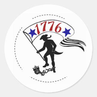 (1776) ETIQUETAS REDONDAS