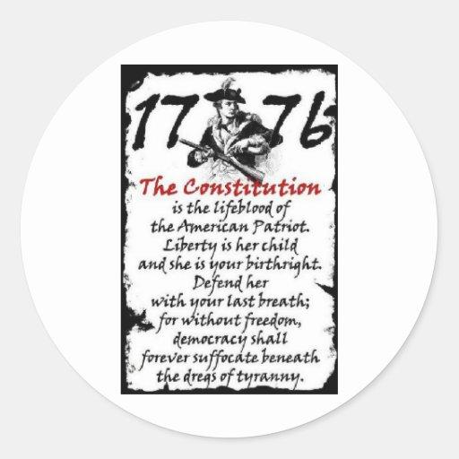 1776 PEGATINA REDONDA