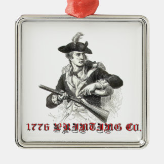 1776 printing co. metal ornament