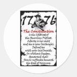 1776 ROUND STICKERS