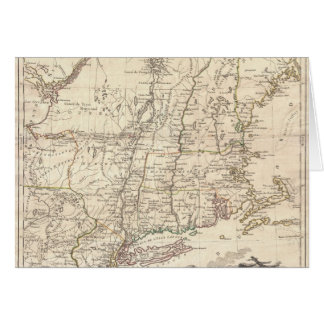 1777 Map of New England Greeting Card
