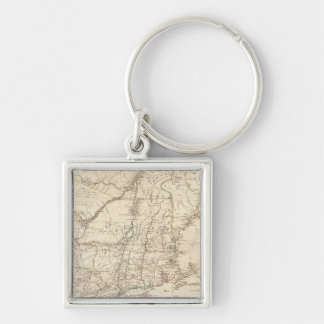 1777 Map of New England Keychain