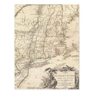 1777 Map of New England Postcard