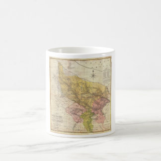 1777 Rennell Dury Wall Map of Delhi and Agra India Classic White Coffee Mug
