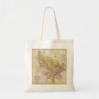 1777 Rennell Dury Wall Map of Delhi and Agra India Tote Bag