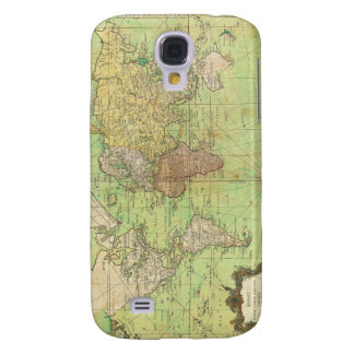 1778 Bellin Nautical Chart or Map of the World Galaxy S4 Case