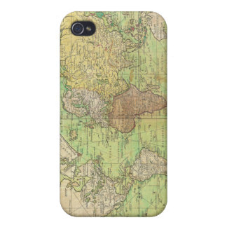 1778 Bellin Nautical Chart or Map of the World iPhone 4/4S Case