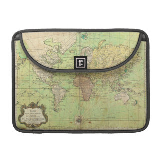 1778 Bellin Nautical Chart or Map of the World MacBook Pro Sleeves
