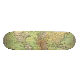 1778 Bellin Nautical Chart or Map of the World Skateboard